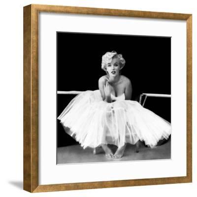 Marilyn Monroe - Ballet Dancer-Milton H^ Greene-Framed Art Print