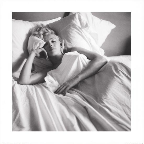 Marilyn Monroe: Bed--Art Print