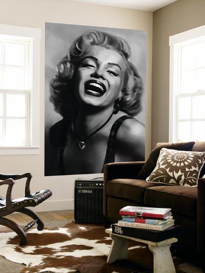 Marilyn Monroe by Tom Croft Movie Mural--Wallpaper Mural