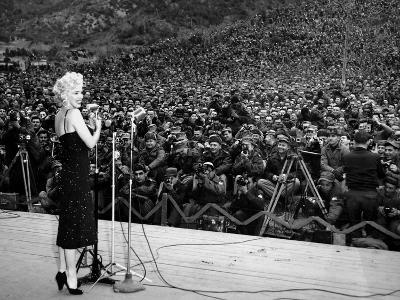 """Marilyn Monroe Named """"Member of Honour of the 25E Division"""" on February 16-19, 1954--Photo"""