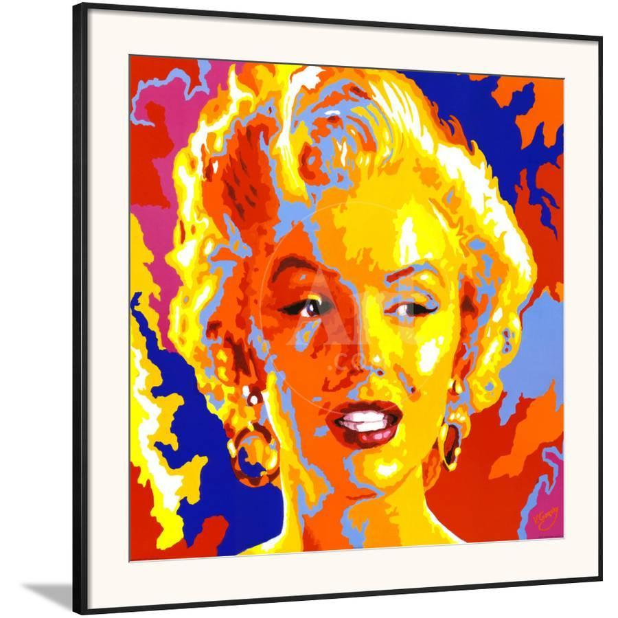 Marilyn Monroe Framed Art Print by Vladimir Gorsky | Art.com