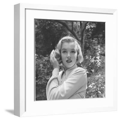 Marilyn Monroe-Ed Clark-Framed Premium Photographic Print