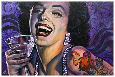 Marilyn Noir-Mike Bell-Art Print