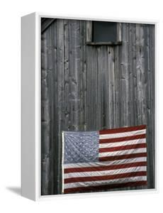 American Flag on Barn by Marilyn Parver
