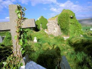 Drumcheehy Church, County Clare, Ballyvaughan, Ireland by Marilyn Parver