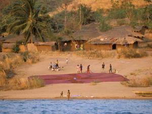Fishing Village, Lake Tanganyika, Mahale Mountain, Tanzania by Marilyn Parver