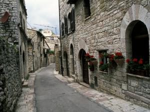Medieval Street, Assisi, Umbria, Italy by Marilyn Parver
