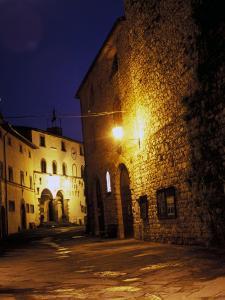 Medieval Street at Night, Radda, Chianti, Siena, Tuscany, Italy by Marilyn Parver