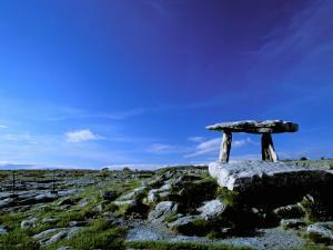 The Burren, Poulnabrone Dolmen, County Clare, Ireland by Marilyn Parver