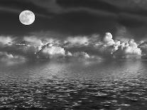 Rising Full Moon-marilyna-Art Print