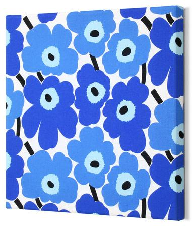 Marimekko®  Mini-Unikko Fabric Panel - Blue 15x15