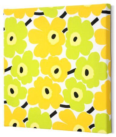 Marimekko®  Mini-Unikko Fabric Panel - Lime/Yellow 13x13