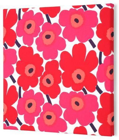 Marimekko®  Mini-Unikko Fabric Panel - Red 13x13