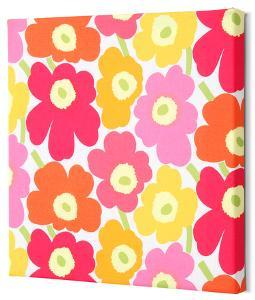 Marimekko®  Mini-Unikko Fabric Panel - Yel/Org/Pink 15x15