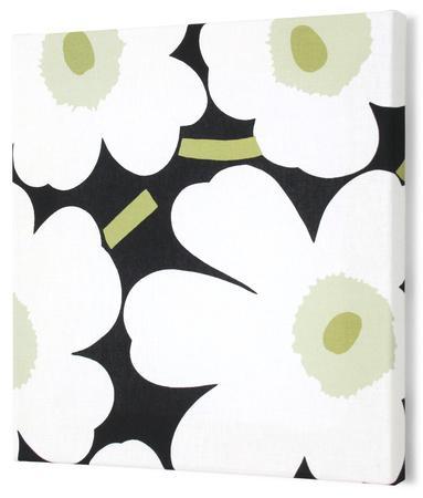 Marimekko®  Unikko Fabric Panel - Blk/Wht/Grn Pieni 15x15