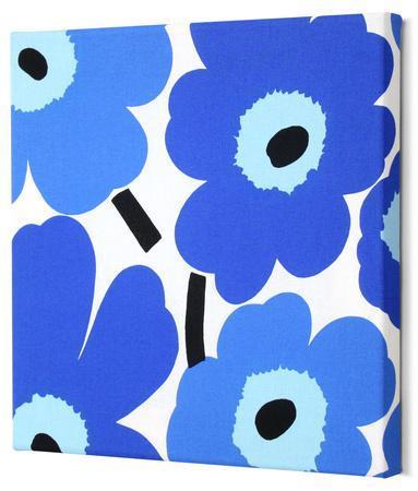 Marimekko®  Unikko Fabric Panel - Blue Pieni 13x13