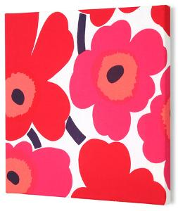 Marimekko®  Unikko Fabric Panel - Red Pieni 15x15