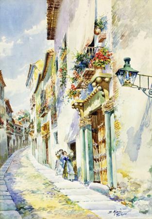 A Street Scene, Toledo