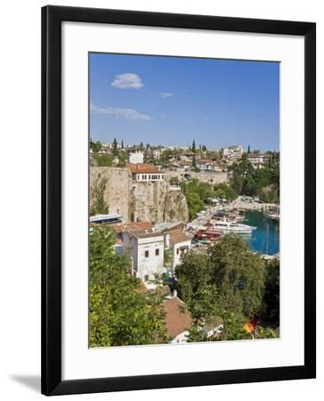 Marina and Roman Harbour in Kaleici, Old Town, Antalya, Anatolia, Turkey Minor, Eurasia-Gavin Hellier-Framed Photographic Print