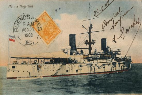 Marina Argentina. Acorazado, Belgrano, c1908-Unknown-Giclee Print