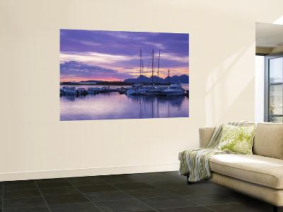 Marina at Sunset, Kjerringoy, Nordland, Norway-Doug Pearson-Wall Mural