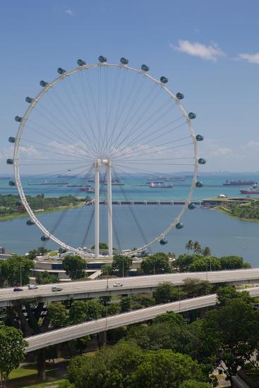 Marina Bay, Singapore Flyer, Singapore, Southeast Asia-Frank Fell-Photographic Print