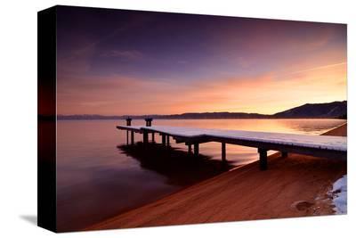 Marina Bay Sunrise--Stretched Canvas Print