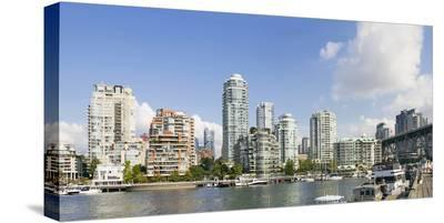 Marina by Granville Island--Stretched Canvas Print
