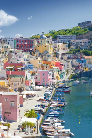 Marina Corricella, Procida Island, Bay of Naples, Campania, Italy--Photographic Print