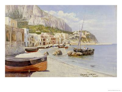 Marina Grande, Capri-Holgar Hvitfeld Jerichau-Giclee Print