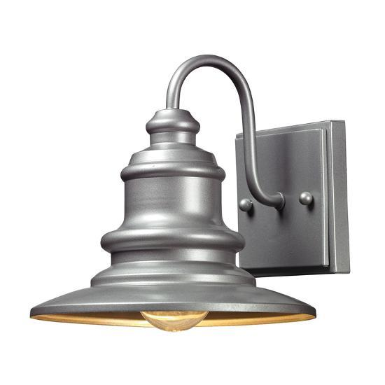 Marina Outdoor Sconce - Matte Silver--Home Accessories
