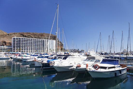 Marina, Puerto Rico, Gran Canaria, Canary Islands, Spain, Atlantic, Europe-Markus Lange-Photographic Print