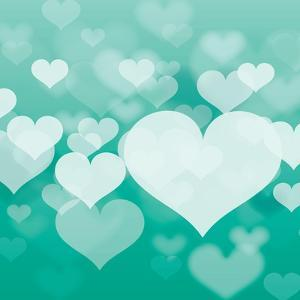 Abstract Heart in Format by Marina Riley