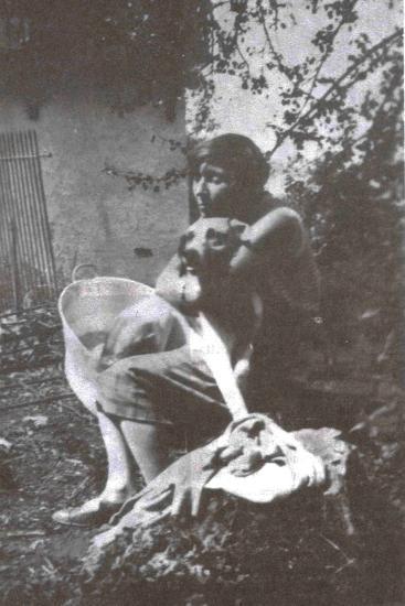 Marina Tsvetaeva with Her Dog, Savoy, 1930--Giclee Print
