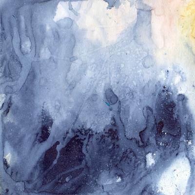 Watercolor Background of Indigo Color