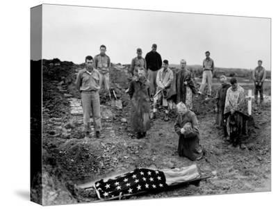 Marine Col. Francis Fenton Kneeling Over Corpse of Son, Killed in Action under His Father's Command