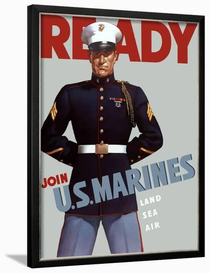 Marine Corps Recruiting Poster from World War II-Stocktrek Images-Framed Photographic Print