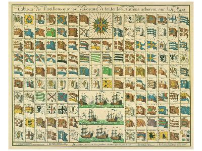 Marine: Correspondance Signals for the Day, c.1712-Mathieu Seutter-Art Print