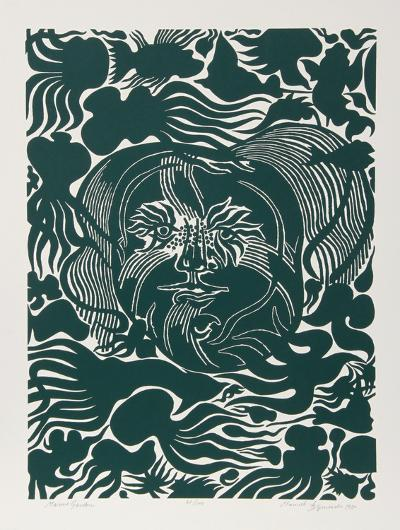 Marine Garden (Green)-Manuel Izqueirdo-Limited Edition