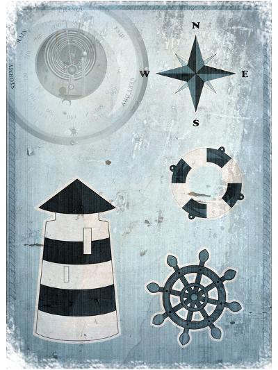 Marine Grunge Background-elfivetrov-Art Print