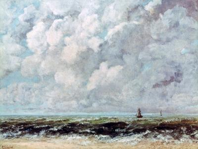 Marine Landscape, C1840-1877-Gustave Courbet-Giclee Print