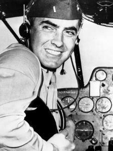 Marine Lieutentant Tyrone Power at the Naval Air Training Center in Corpus Christi, Texas, May 1944