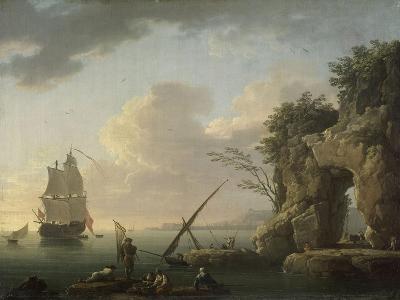 Marine par temps calme. Effet de soleil couchant-Claude Joseph Vernet-Giclee Print