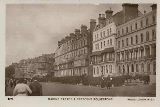 'Marine Parade & Crescent Folkestone', late 19th-early 20th century-Unknown-Giclee Print