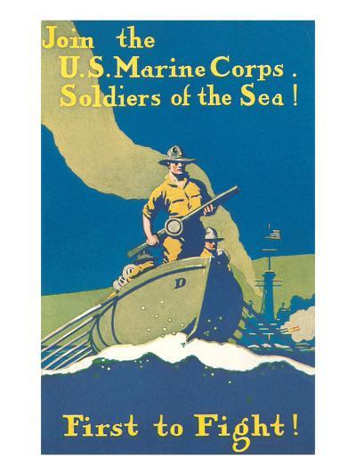 Marine Recruitment Poster, First to Fight--Art Print