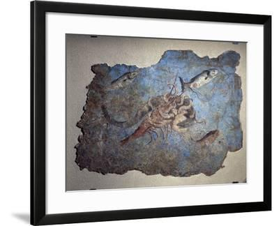 Marine Scene of Fight Between an Octopus a Lobster and a Moray Eel--Framed Giclee Print