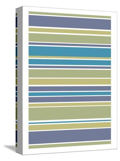 Marine Stripes-Denise Duplock-Stretched Canvas Print