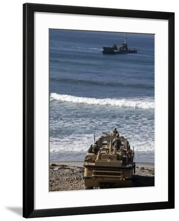 Marines Anticipate the Arrival of an Improved Navy Lighterage System--Framed Photographic Print