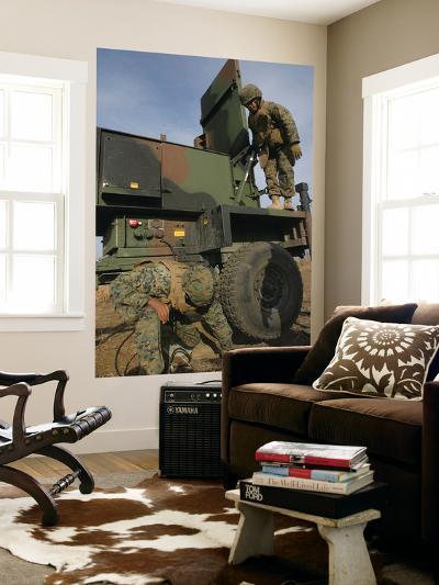 Marines Prepare the Antenna of an AN/TPQ-46A Radar System-Stocktrek Images-Wall Mural