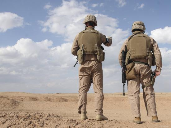 Marines Scan the Horizon for Insurgent Activity During a Security Patrol-Stocktrek Images-Photographic Print